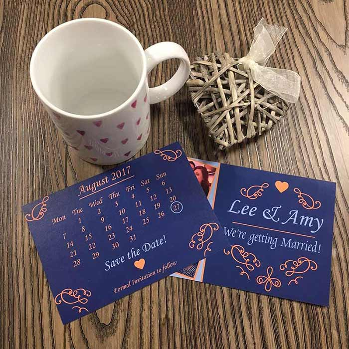 "Create your own ""Save the Date"" postcards!"