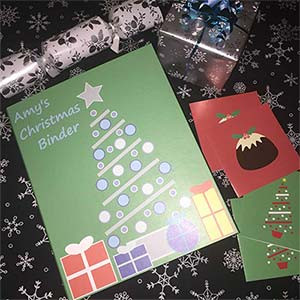 Get organised with Christmas Ring Binders