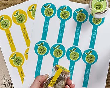 Lid Seal Labels and stickers by Avery WePrint
