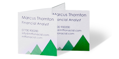 Square Folded Business Cards