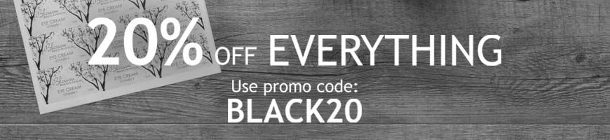 20% off everything - Use code BLACK20