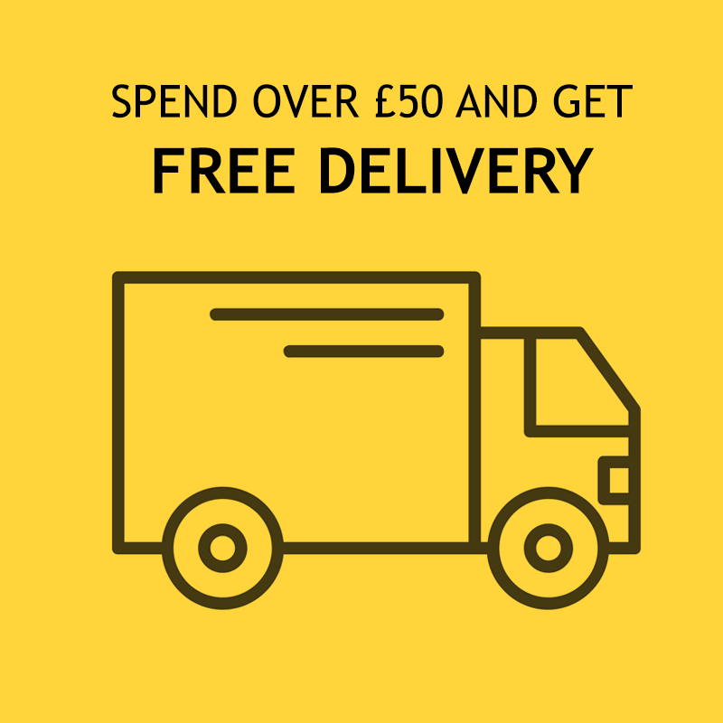 FREE Standard UK Delivery when you spend £50+