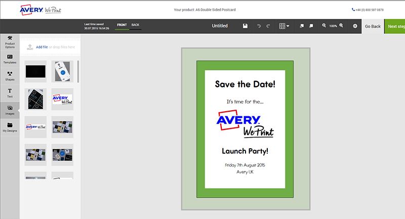 It's time for a party! Printing the Avery WePrint launch party