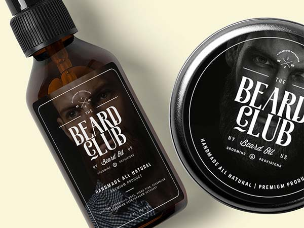 Beard Oil & Shaving Cream Labels